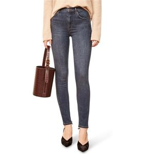 Reformation High and Skinny jeans color Havana